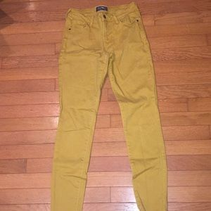 Rock star mid rise mustard jeans